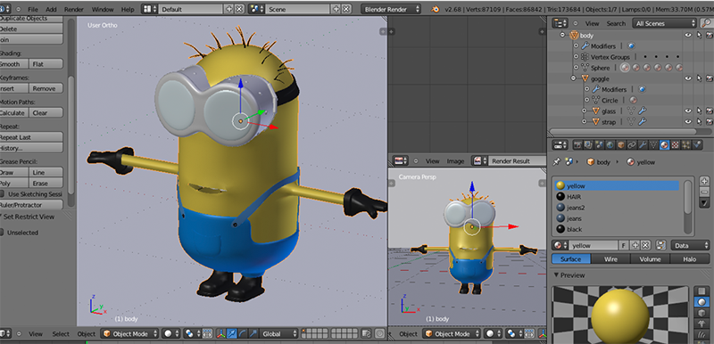 Blender 3d modeling and animation the eli whitney Online modeling program