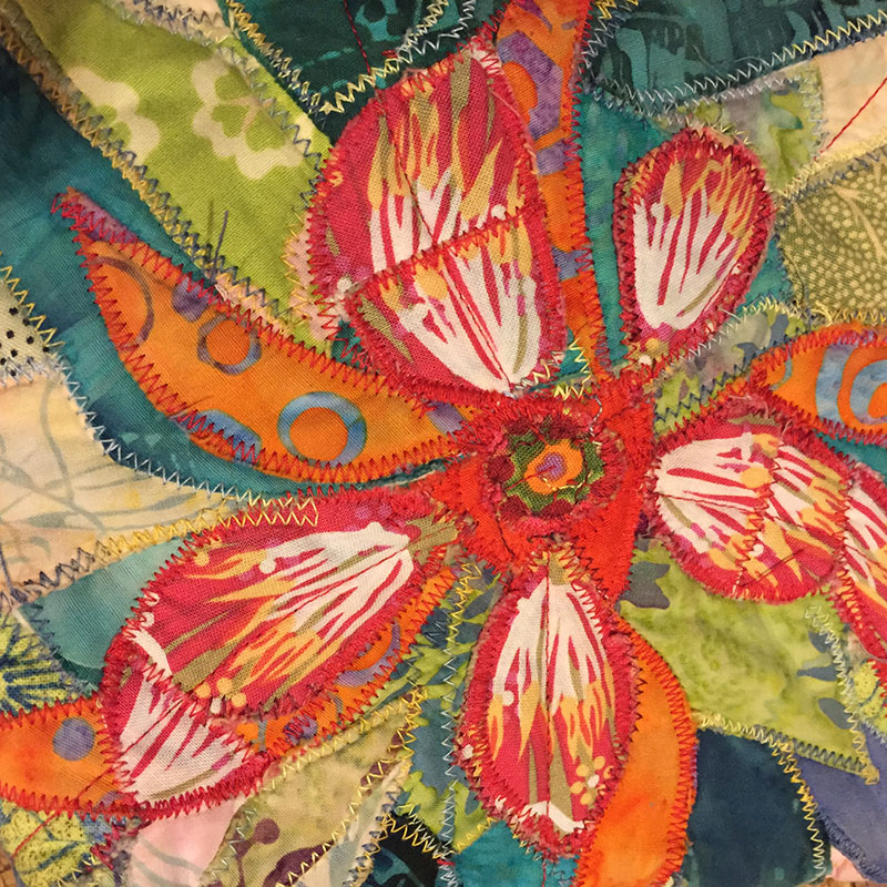 sewing  fabric collage