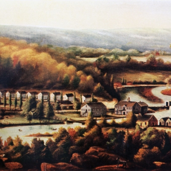 The Eli Whitney Gun Factory by William Giles Munson, oil on canvas, 1826-8. Courtesy of the Yale University Art Gallery, Mabel B