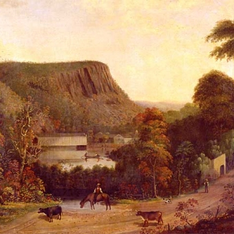 The 19th century Durrie painting of the Town bridge