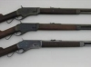 Right view of 1st, 2nd and 3rd model Burgess rifles - Manufactured from late 1878 to early 1880. Total production estimated at less than 2000 rifles and carbines.